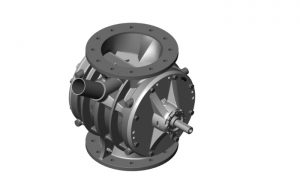 The re-engineered ZV rotary valve has an increased feed-in power and significantly lowered noise emission, as well as reduced energy loss. - Image: Coperion, Weingarten