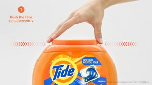 PROCTER & GAMBLE Takes next step forward in commitment to consumer safety with new liquid laundry pac tub that includes HARDER-TO-OPEN CHILD-GUARD™ lid